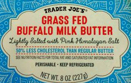Trader Joe's Grass Fed Buffalo Milk Butter