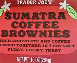 Trader Joe's Sumatra Coffee Brownies
