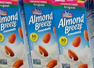Unsweetened Original Almond Breeze Almond Milk
