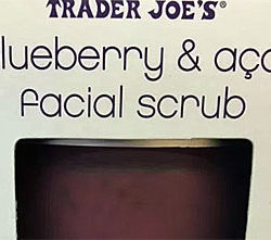 Trader Joe's Blueberry Açaí Facial Scrub