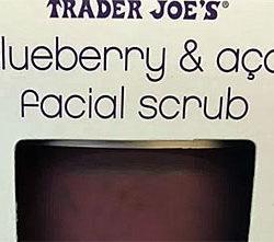 Trader Joe's Blueberry Açaí Facial Scrub