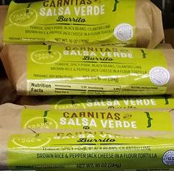 Trader Joe's Salsa Verde Carnitas Burrito
