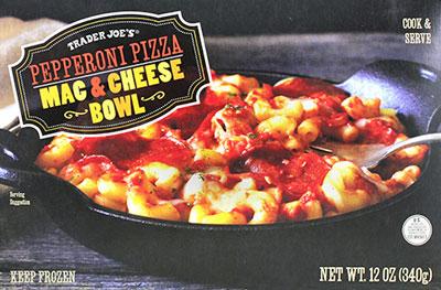 Trader Joe's Pepperoni Pizza Mac & Cheese Bowl