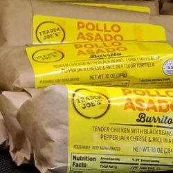 Trader Joe's Pollo Asado Burrito