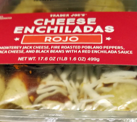 Trader Joe's Rojo Cheese Enchiladas