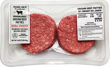Trader Joe's Choice Premium Angus Ground Beef Patties