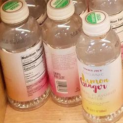 Trader Joe's Organic Lemon Ginger Herbal Flavored Water