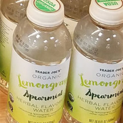 Trader Joe's Organic Lemongrass Spearmint Herbal Flavored Water