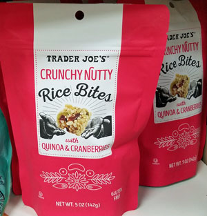 Trader Joe's Crunchy Nutty Rice Bites with Quinoa & Cranberries