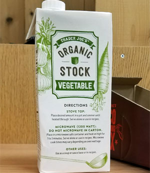 Trader Joe's Organic Vegetable Stock