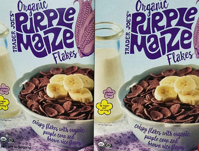 Trader Joe's Organic Purple Maize Flakes Cereal