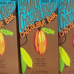 Trader Joe's Milk Chocolate Lover's 45% Cacao Chocolate Bar