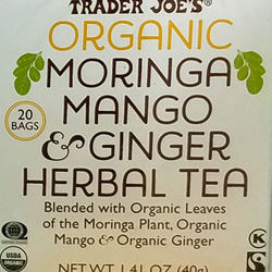 Trader Joe's Organic Moringa Mango & Ginger Herbal Tea