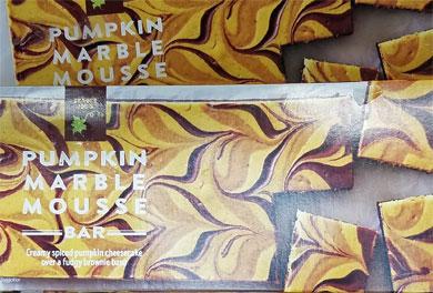 Trader Joe's Pumpkin Marble Mousse Bar Reviews