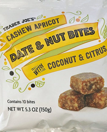 Trader Joe's Cashew Apricot Date & Nut Bites with Coconut & Citrus