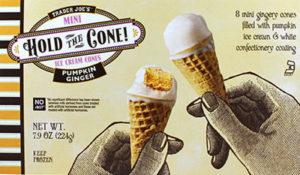 Trader Joe's Pumpkin Ginger Hold the Cone Mini Ice Cream Cones