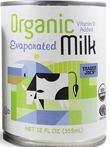 Trader Joe's Organic Evaporated Milk