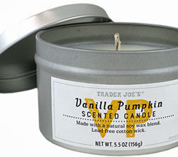 Trader Joe's Vanilla Pumpkin Scented Candle