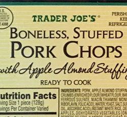Trader Joe's Boneless Stuffed Pork Chops with Apple Almond Stuffing