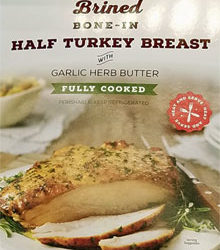 Trader Joe's Brined Bone-In Half Turkey Breast with Garlic Herb Butter