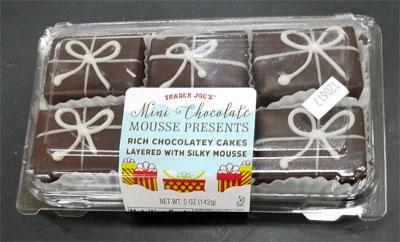 Trader Joe's Mini Chocolate Mousse Presents