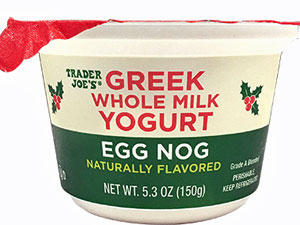 Trader Joe's Egg Nog Whole Milk Greek Yogurt