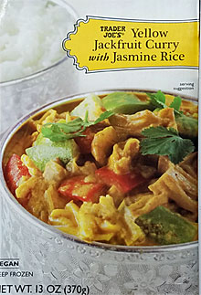 Trader Joe's Yellow Jackfruit Curry with Jasmine Rice