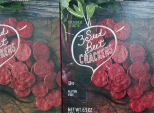 Trader Joe's 3 Seed Beet Crackers