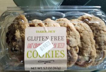 Trader Joe's Gluten-Free Oat Cranberry Flaxseed Cookies