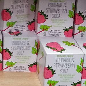 Trader Joe's Rhubarb & Strawberry Soda