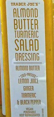 Trader Joe's Almond Butter Turmeric Salad Dressing