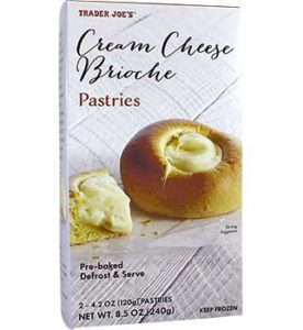 Trader Joe's Cream Cheese Brioche Pastries