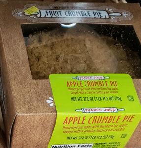 Trader Joe's Apple Crumble Pie