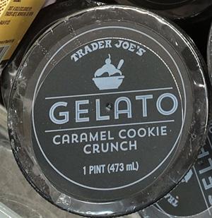 Trader Joe's Caramel Cookie Crunch Gelato