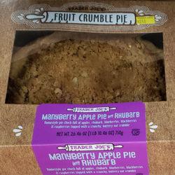 Trader Joe's Manyberry Apple Pie with Rhubarb