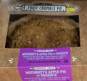 Trader Joe's Manyberry Apple Pie with Rhubarb