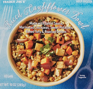 Trader Joe's Riced Cauliflower Bowl