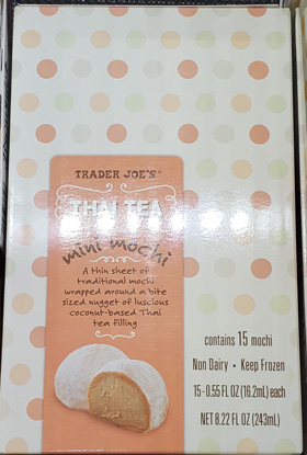 Trader Joe's Thai Tea Mini Mochi