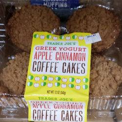 Trader Joe's Greek Yogurt Apple Cinnamon Coffee Cakes