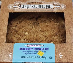 Trader Joe's Blueberry Crumble Pie