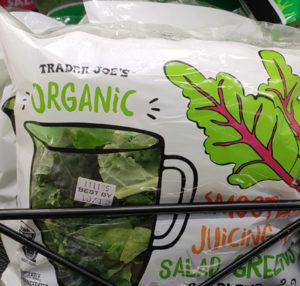 Trader Joe's Organic Smoothie Juicing Salad Greens Blend