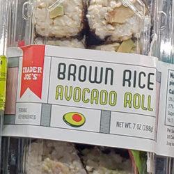 Trader Joe's Brown Rice Avocado Rolls