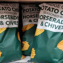 Trader Joe's Ridge Cut Potato Chips Seasoned with Horseradish & Chives