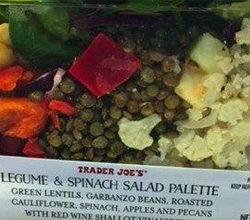 Trader Joe's Legume & Spinach Salad Palette
