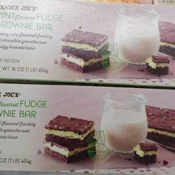 Trader Joe's Mint Fudge Brownie Bar