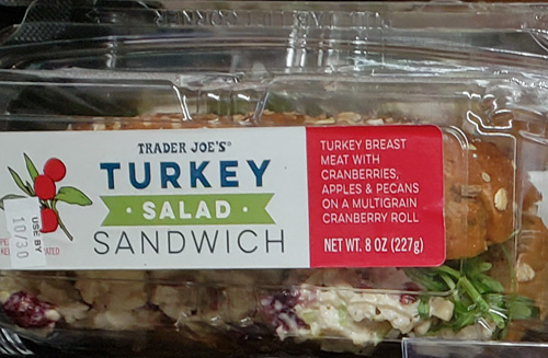 Trader Joe's Turkey Salad Sandwich