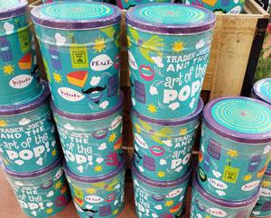 Trader Joe's Art of the Pop Popcorn Tin