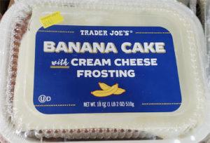 Trader Joe's Banana Cake with Cream Cheese Frosting