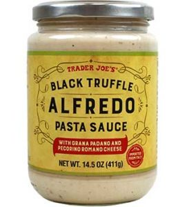 Trader Joe's Black Truffle Alfredo Pasta Sauce