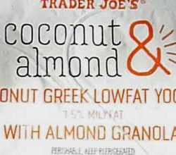 Trader Joe's Coconut & Almond Greek Lowfat Yogurt with Almond Granola